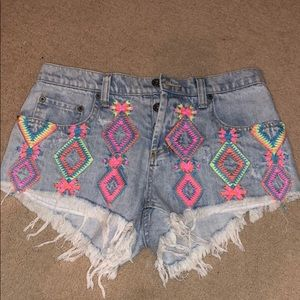 Carmar LF embroidered denim shorts